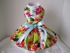 Dog Dress  XS   Hawaii  Paradise  By Nina's by NinasCoutureCloset, $30.00