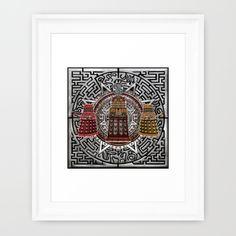 Aztec Dalek Tardis doctor who pencils sketch Frame Art @society6 #artdesign #artprint #painting #printing #aztec #dalek #drwho #tardis #bluephonebox #davidtennant #medallion #symbol