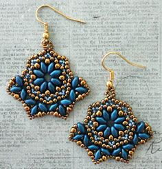 Linda's Crafty Inspirations: Pattern Review: Bohemian Beauty Earrings