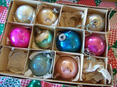 misc. vintage glass tree ornaments