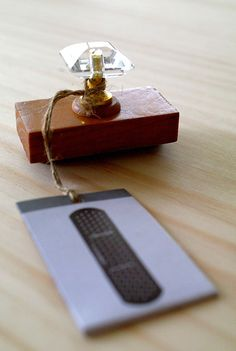 Antique crystal stamp  STICKING PLASTER by karaku on Etsy, ¥650