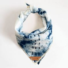 SHIBORI: Indigo Tie Dyed Bandana