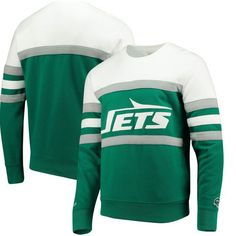 46bfbfa27 This classic green and white sweater is a New York Jets game day essential.  Paired