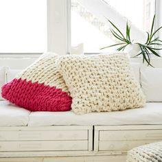 Oversized Chunky Knit Pillow Kit