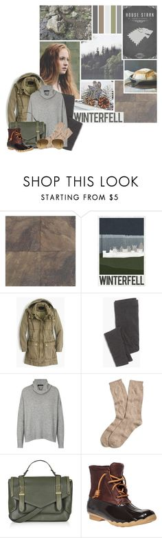 """House Stark Modern Fashion"" by evil-laugh ❤ liked on Polyvore featuring WALL, J.Crew, Madewell, 360 Sweater, Brooks Brothers, Topshop, Sperry, Ray-Ban and modern"