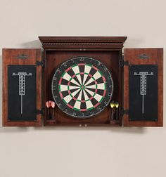 This truly handsome dart board adds an air of significance and phenomenal fun to any rec area or game room. Where ever you choose to hang it will become the perfect spot to gather with friends, and enjoy some competition and good company.
