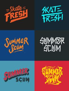 Various Type/ Logos 1 on Behance Shirt Logo Design, Lettering Design, Typography Inspiration, Graphic Design Inspiration, Fonts Quotes, Typography Letters, Text Design, Typography Logo, Letter Logo