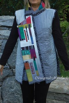 Off the Grid Vest pattern (PDF) - Am I crazy in thinking that this would be amazing in a solid color and woodgrain quilting?