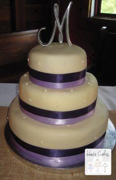 Northern Virginia Wedding Cake Purple Round   Haute Cakes Pastry Shop