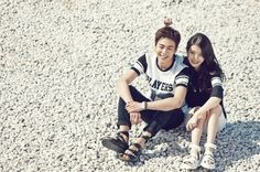 IU with Lee Hyun Woo - Unionbay 2015 Summer Catalogue