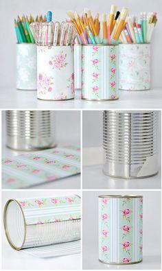 DIY - Tin Can Wrapping