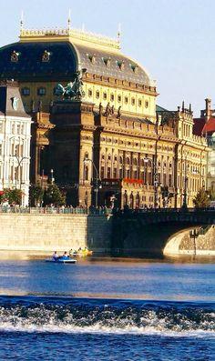 The National Theatre in Prague,Czech Republic