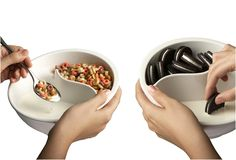 LOL **Never soggy cereal bowl. I NEED this, I hate soggy cereal and will not eat it once it's soggy. My Dream Came True, Cool Inventions, Cereal Bowls, Cereal Cookies, Rice Bowls, Chocolate, Food Design, Kitchen Gadgets, Kitchen Tools