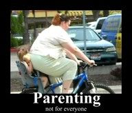 Not sure who if i feel worse for, the kid or the bicycle seat.