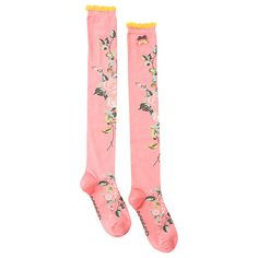 Buy Powder Long Climbing Rose Socks, Pink Online at johnlewis.com