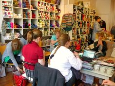 Knit Club in full swing @absoknittinglutely