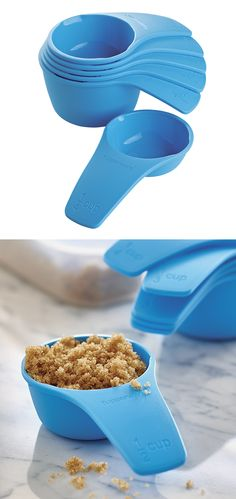Measuring Cups. Includes 1/4, 1/3, 1/2, 2/3, 3/4 and 1 cup. Double-sided pour spouts for left and right-handed users.