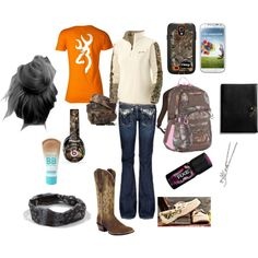 """""""camo"""" by emmarae-conk on Polyvore minus that shitty axe spray"""