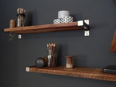 Love these for the bedroom   https://www.etsy.com/listing/174992175/salvaged-barn-wood-shelving-with-modern