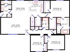Wisconsin homes offers a wide variety of ranch floor plans. Check out the Spectrum floor plans. Cottage House Plans, Dream House Plans, Small House Plans, My Dream Home, The Plan, How To Plan, Cabin Floor Plans, Small Cottages, Shipping Container Homes