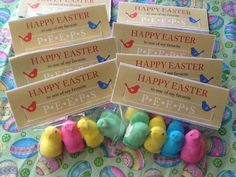 """Have your peeps calls my peeps."""" gifts for employees Customer Appreciation, Appreciation Gifts, Work Gifts, Office Gifts, Easter Peeps, Happy Easter, Sales And Marketing, Marketing Ideas, Insurance Marketing"""
