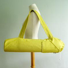 Yoga Matte Tasche - Säure gelb Citron Yoga Bag - Geschenkidee