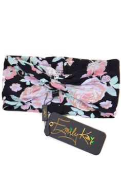 Emily Kai - Floral Twisted Headband! It's cute, sassy, AND will keep your ears warm on these cold winter days!