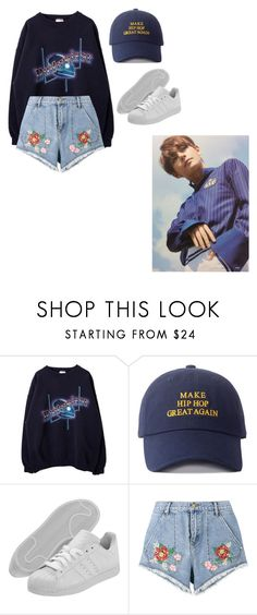 """Hanging Out X Taehyung"" by biebersqueen15 ❤ liked on Polyvore featuring adidas and House of Holland"