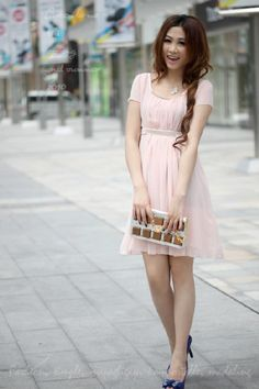 Short sleeved and pink