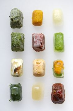 12 Ways to Preserve Vegetables in Ice Cube Trays