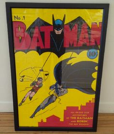 BATMAN! A project we completed in summer of 2014. #dimensionscustomframingtoronto