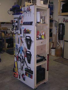 Mobile Pegboard Cabinet - by Mark Whitsitt @ LumberJocks.com ~ woodworking community