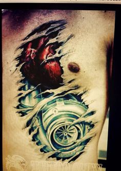 Turbo Heart Tattoo