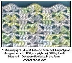 Printing Page For Lacy Lapghan or Baby Blanket Sized Afghan Free Crochet Easy Pattern With How-To Photos For Beginners