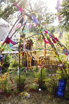 Wilderness festival children's area branches decoration