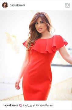 Najwa Karam a Lebanese Singer Arab Actress, One Shoulder, Cold Shoulder Dress, Singer, Actresses, Blouse, Instagram, Tops, Women