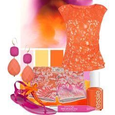 """""""49/50: Pink + Orange"""" by eiluned on Polyvore"""