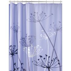 Amazon.com - InterDesign Thistle Shower Curtain, Purple and Gray, 72-Inch by 72-Inch - Bathroom Towels