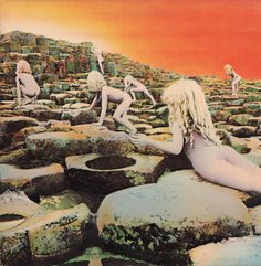 Led Zeppelin: Houses Of The Holy 1973 (c) Atlantic  The cover art for Houses of the Holy was inspired by the ending of Arthur C. Clarke's novel Childhood's End.  (c) Wikipedia
