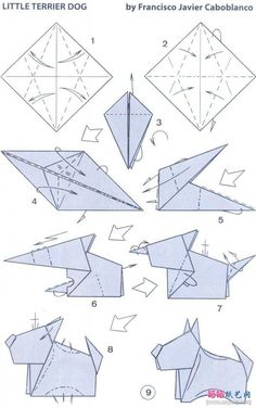 border collie origami steps - Google Search