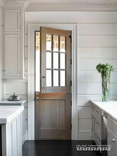 Gray Wash Dutch Door - Melanie Turner Interiors
