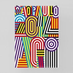 """""""AGI San Paolo"""", Brazil, [Alliance Graphique Internationale (AGI) is a club of the world's leading graphic artists and designers] - Graphic Poster Design by """"Feixen"""" Design Studio (Lucerne, Switzerland) and Felix Pfäffli (b. Cool Typography, Typography Letters, Graphic Design Typography, Typography Wallpaper, Japanese Typography, Design Graphique, Art Graphique, Graphisches Design, Print Design"""