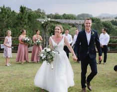 Held on the Sunshine Coast in the most amazing hills, very hot day - didn't stop guests celebrating with this beautiful couple. #myweddings #sunshinecoastceremony #greatsoutheastqueenslandvenue