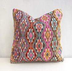 45x45cm Decorative Kilim Throw Pillow 18x18' Embroidered Sofa Cushion Cover Vintage Euro Sham Bohemian Home Decor