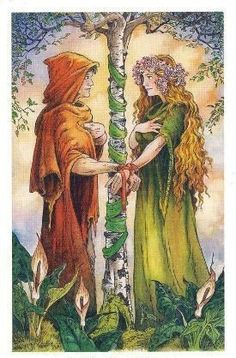 """Every time I try to tell myself """"NO MORE TAROT DECKS"""" I see a new deck that calls to me. The call of The Wildwood Tarot was loud and insi. Tarot Card Decks, Tarot Cards, Tarot Celta, Wildwood Tarot, The Lovers Tarot Card, Tarot Major Arcana, Angel Cards, Beltane, Handfasting"""