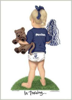 Buying this for Lia ASAP!!!!! Penn State Nittany Lions Football Cheerleader In Training Art Print