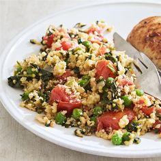 Vegetable Birdseed Pilaf Healthy Sides, Heart Healthy Recipes, Healthy Side Dishes, Side Dish Recipes, Vegetarian Recipes, Healthy Dinners, Dinner Recipes, Picnic Recipes, Dinner Entrees