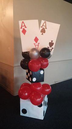 Centerpieces las vegas themed crab feed in 2019 день рождения, вечеринка, д Las Vegas Party, Vegas Theme, Casino Night Party, Vegas Casino, Casino Bus, Casino Party Decorations, Casino Theme Parties, Themed Parties, Poker Party