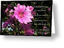 Beautiful Blossom 2 Greeting Card by Joan-Violet Stretch