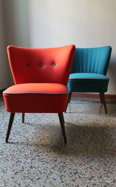 http://inspvintage.canalblog.com/ Fauteuils Cocktail Orange Plus